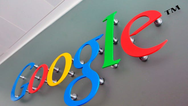 A file photograph dated 10 April 2008 shows the Google logo at the Belgrave House in central London, Britain.