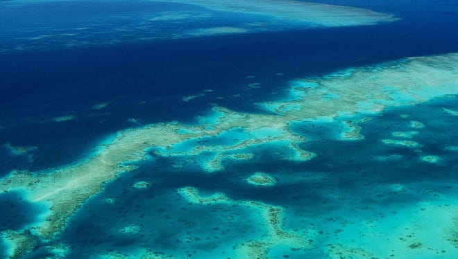 The Great Barrier Reef in Australia.