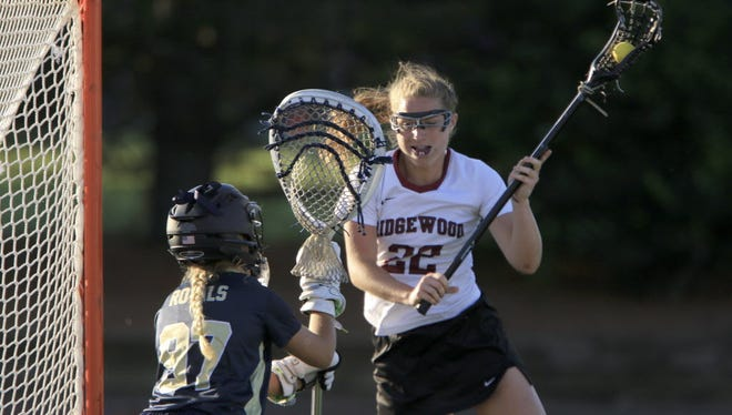 Lillie Kloak of Ridgewood goes to goal in a 2016 Tournament of Champions game against Oak Knoll.