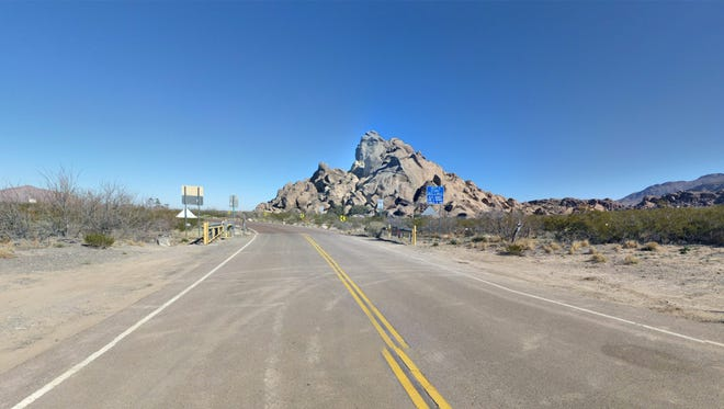 The road to Hueco Tanks State Park & Historic Site offers visitors scenic sights.