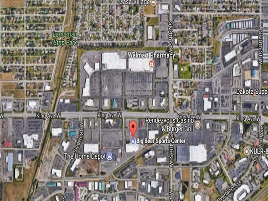 Location of the Big Bear Sports Center stand-off