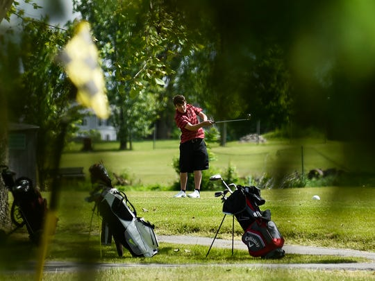 A youth golfer tees off at a prior Heart of Ohio Junior Golf Association tournament held at Green Acres. There has been no determination yet regarding the HOJGA season for 2020.