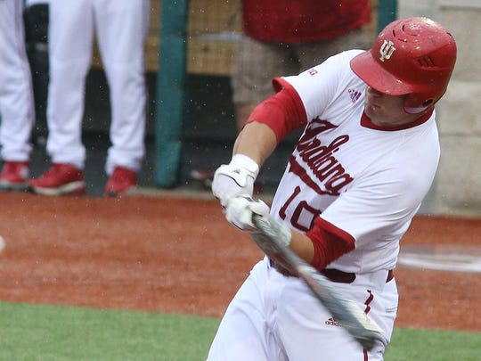In 2014, Kyle Schwarber of IU connected on this swing to hit a home run with a runner on to put IU up 3-0 over Stanford in an NCAA baseball tournament game.