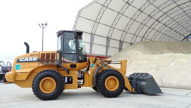 File photo of Ohio Department of Transportation salt storage facility.