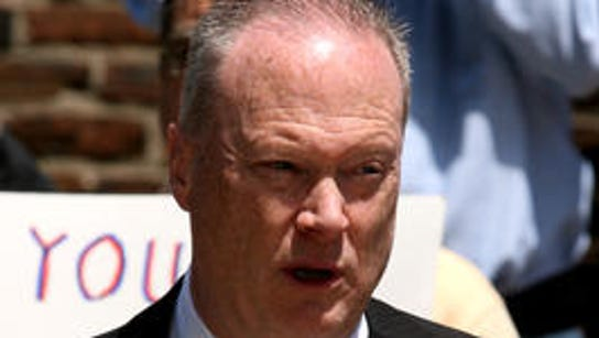 State Sen. Peter Barnes III left the Senate on Monday