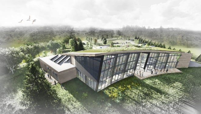 Rendering of the Unitarian Universalist Society of Iowa City's new church to be built at 2355 Oakdale Road in Coralville.