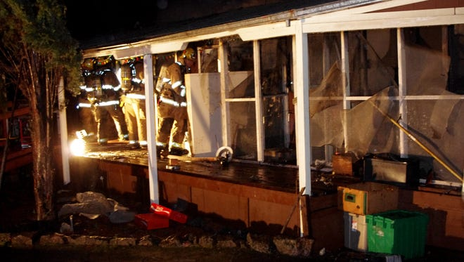 This home off Swasey Drive west of Redding was seriously damaged in a fire late Monday night.