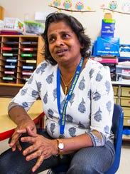 Lalani Moragoda is a kindergarten teacher at Gila Bend
