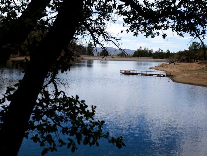 Goldwater Lake in Prescott, Arizona, on a cloudy Saturday, April 12, 2014.