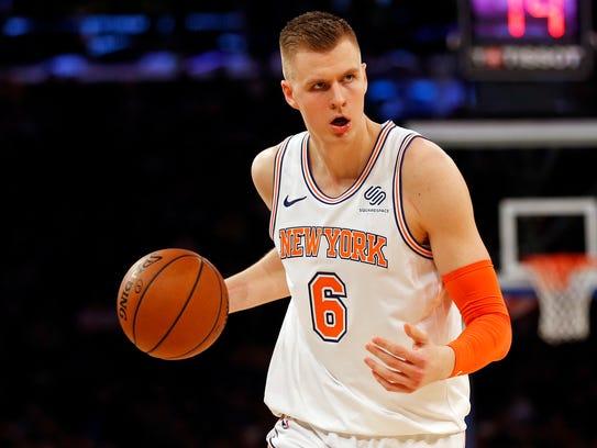 Dec 12, 2017; New York, NY, USA; New York Knicks forward