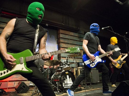 Masked Intruder performs at a free concert featuring the Wisconsin Bands to Watch for 2015 at the Radio Milwaukee Studios. The Madison band will play all 41 dates of the Vans Warped Tour this summer, including the tour's stop in Milwaukee July 26.