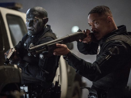 Will Smith, right, and Joel Edgerton in a scene from