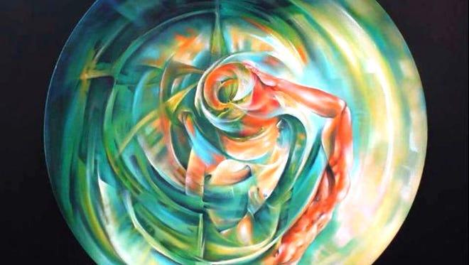 """""""Lucha con el tiempo"""" by Manuel Piña, part of """"Tiempo sin Tiempo at Agave Rosa Gallery."""