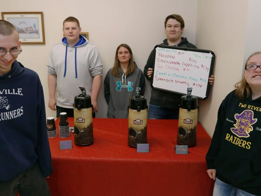 Two Rivers High School Raider Pride Coffee Cafe students