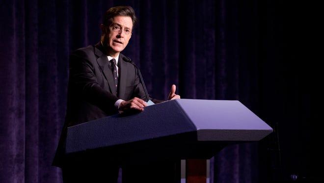 Stephen Colbert on Oct. 9 in New York.
