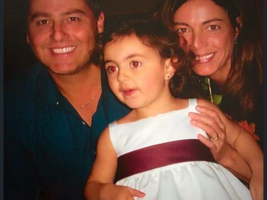 Kevin Dobson, Bridget Hastings, and their daughter, Brooke