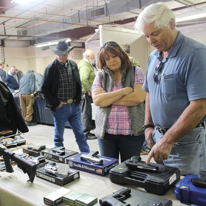 Rifles were also on display for Alamogordoans to check out during the Western Frontier Gun and Knife Show.