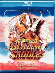 """DVD cover for """"Blazing Saddles: 40th Anniversary Edition."""""""