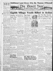 Front page of the Jan. 12 - Jan. 19, 1945 Desert Sun