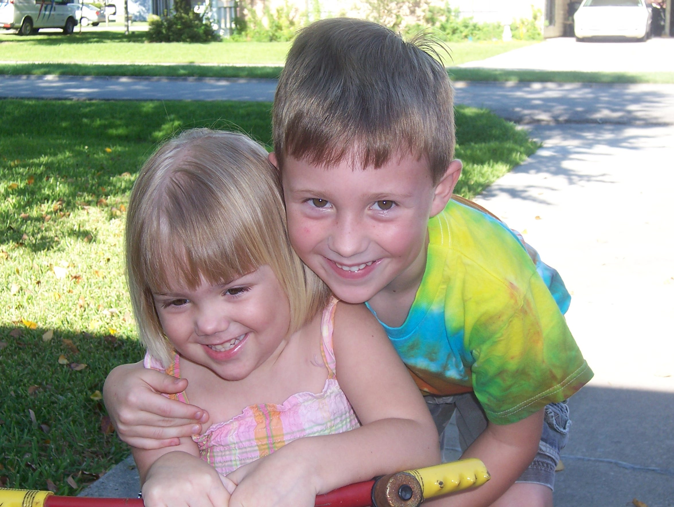 Kacie and her brother, Jacob, are two years apart.