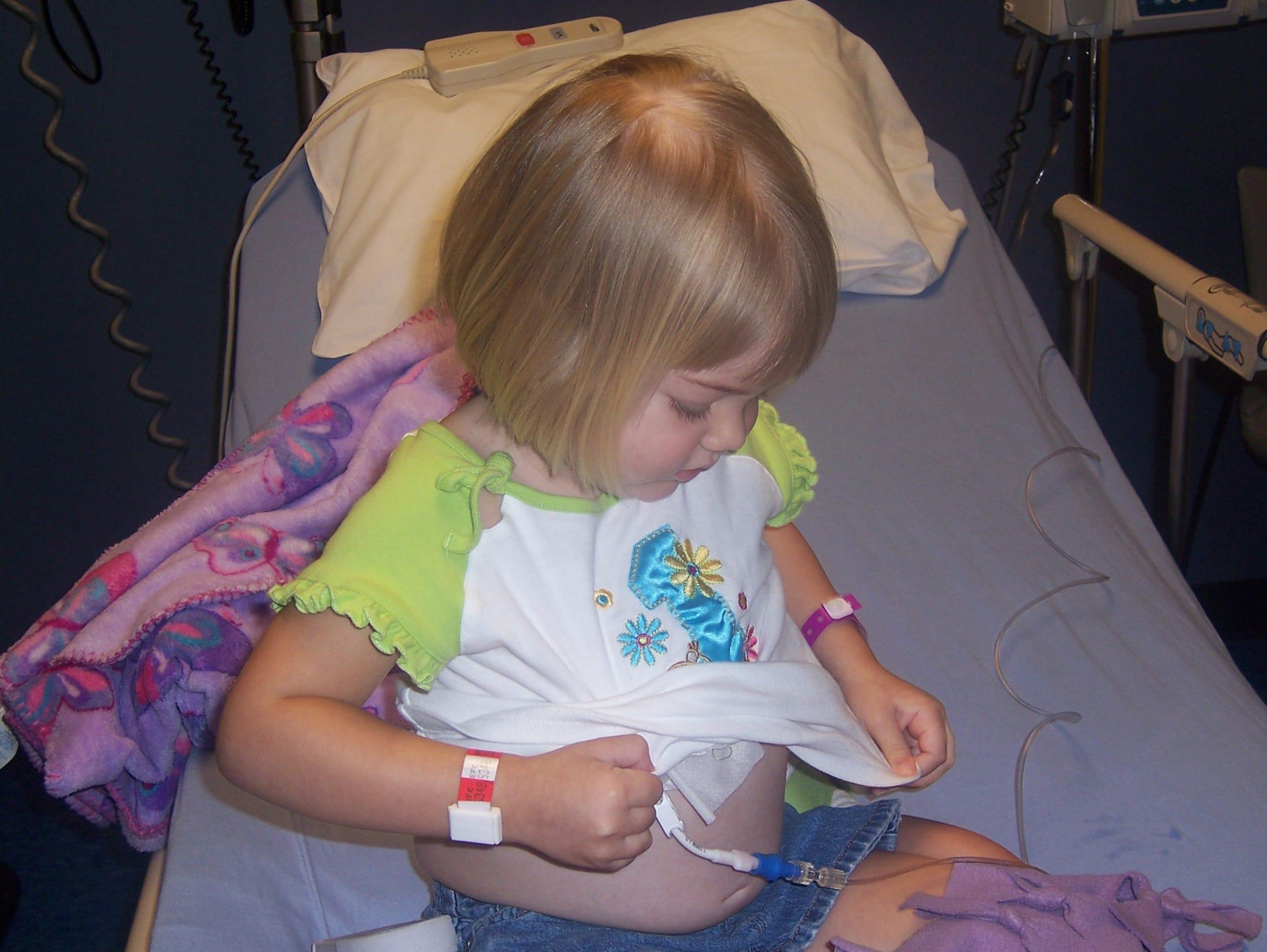 Kacie Francois underwent extensive chemotherapy the