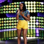 Briar Jonnee Blakley, 20, of Shuqualak performs during blind auditions on 'The Voice.' She left the University of Southern Mississippi to compete.