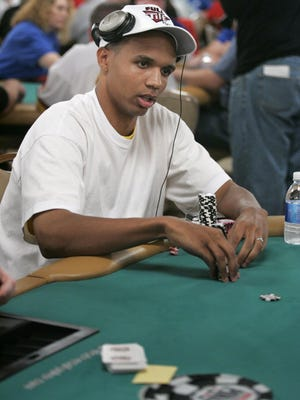 Legendary card player Phil Ivey at the World Series of Poker in 2005.