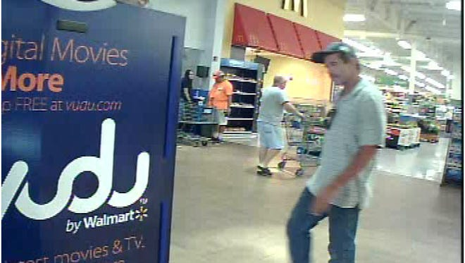 Surveillance image of a man who used a stolen credit card in North Fort Myers.