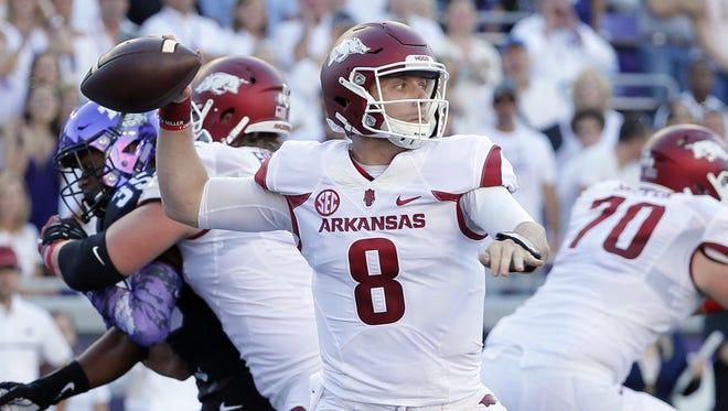 Arkansas quarterback Austin Allen has thrown for 15 touchdowns this season.