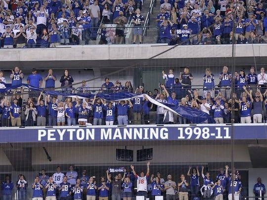Former Colts quarterback Peyton Manning has his name