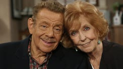 Jerry Stiller, left, and his wife Anne Meara pose on