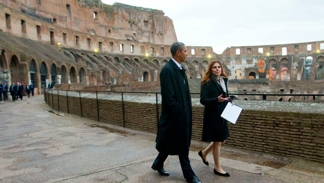 President Obama at the Colosseum.