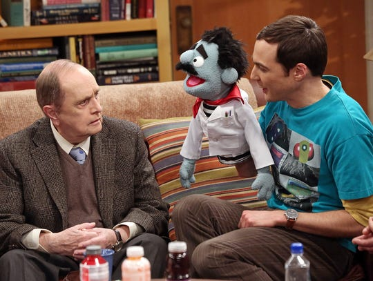Legendary comedian Bob Newhart, left, won an Emmy for playing Professor Proton, seen here with Sheldon (Jim Parsons).