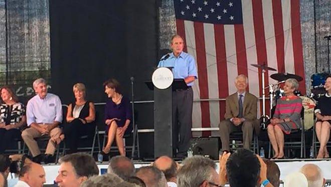 President George W. Bush on the Mississippi Gulf Coast for Hurricane Katrina ten year anniversary.