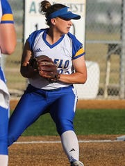 Angelo State's Amanda Ramage looks to make a throw last year.