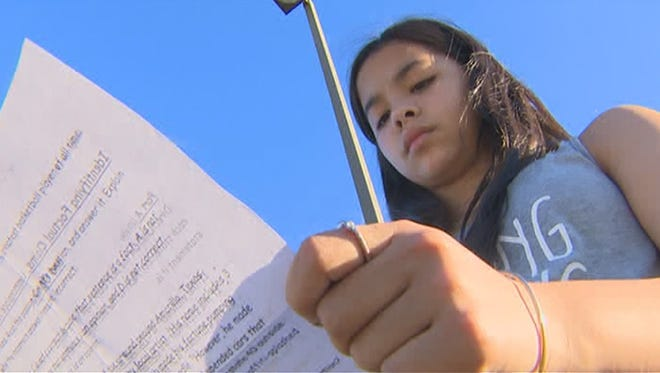 Jordan Wooley, a sevent-grade student in Katy, Texas, said an assignment questioned her faith when her teacher told her God wasn't real.