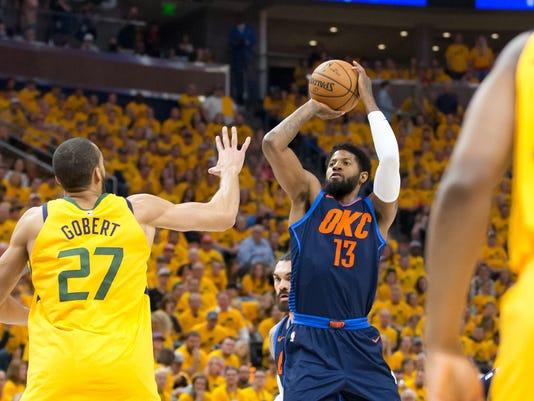 NBA: Playoffs-Oklahoma City Thunder at Utah Jazz