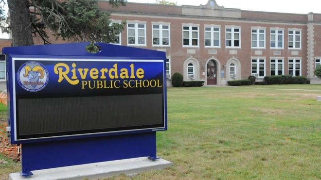 A new sign for Riverdale School will greet students for the new school year.
