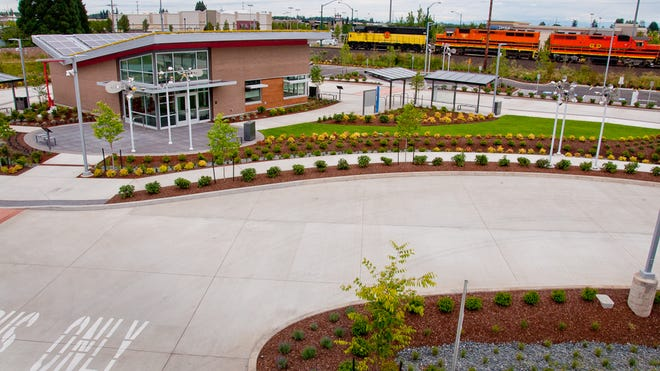 The Keizer Transit Station benefited from a a $2.8 million Federal Transit Administration grant. Allan Pollock, general manager of Salem-Keizer Transit, attributed the grant to CFM Strategic Communications, a firm it uses for lobbying.