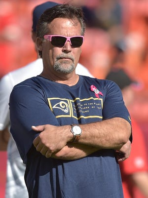 St. Louis Rams coach Jeff Fisher will bring an inconsistent team to Green Bay on Sunday.