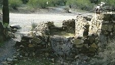 Remains of a Stoneman Road remount  station near Cave Creek in 2010.