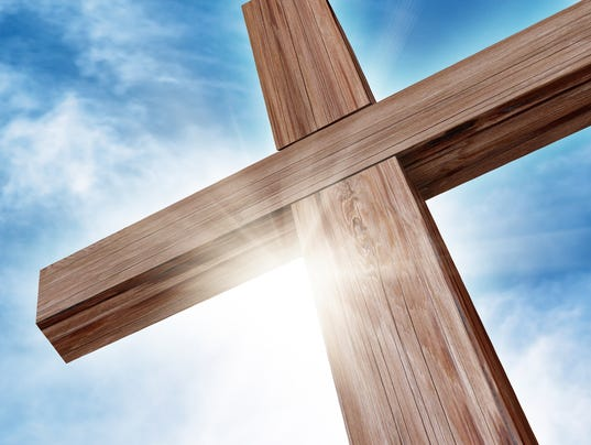 Wooden cross Stock Image