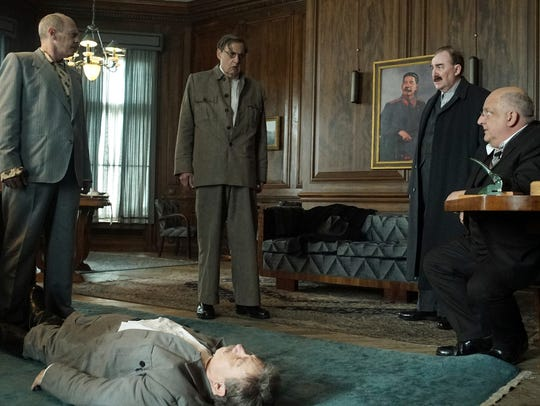 The Soviet leader (Adrian McLoughlin, on the floor)