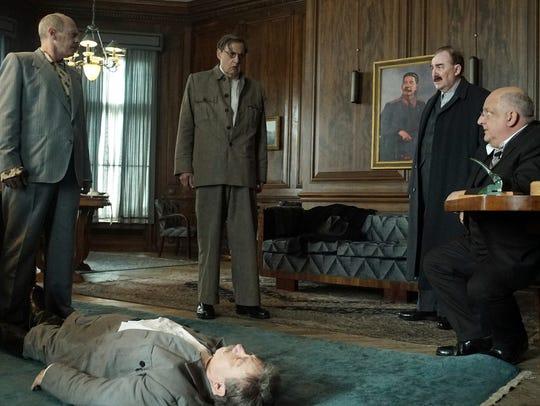 The Soviet leader (Adrian McLoughlin, on the floor)