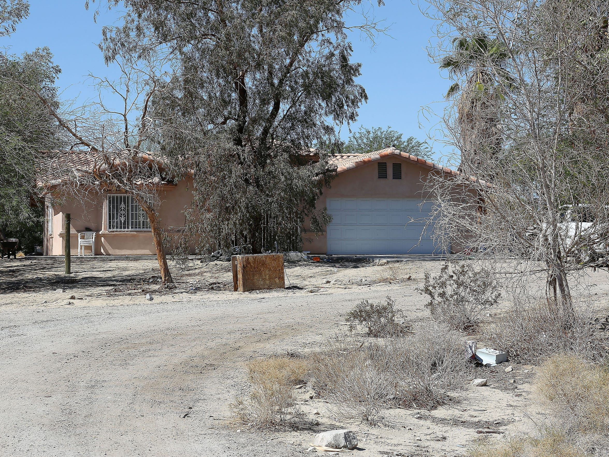 This unassuming home in a remote area of the Indio