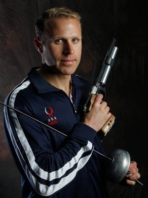 Eli Bremer poses during a portrait session at the USOC Olympic Summit in 2008.