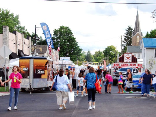 Crowds flocked to downtown Pataskala for the first night of the annual Pataskala Street Fair.