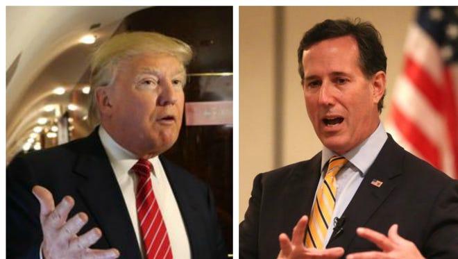 Donald Trump and Rick Santorum
