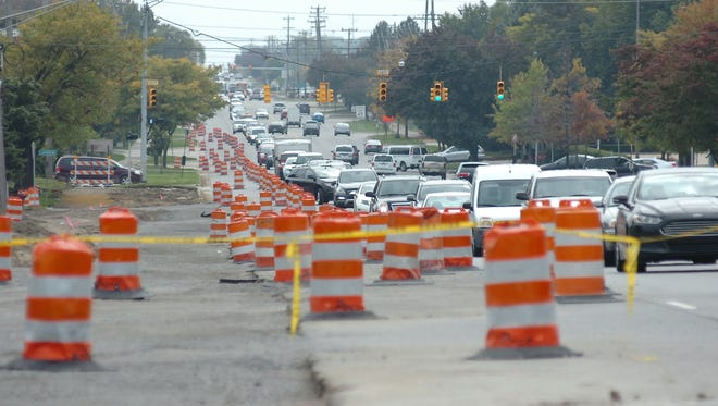 It wasn't easy driving Thursday afternoon on northbound Orchard Lake south of 14 Mile as construction continues in the area.