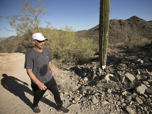 ASU head basketball coach Bobby Hurley - hiking